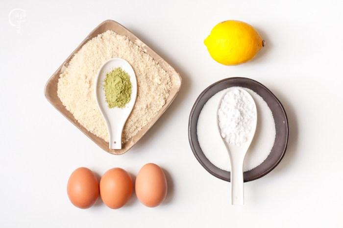 Ingredientes para marquesas de té matcha