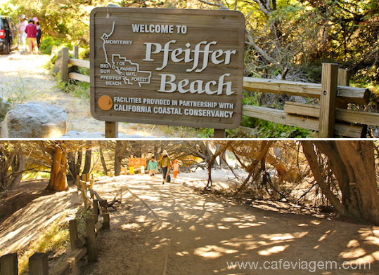 Pfeiffer Beach em Big Sur