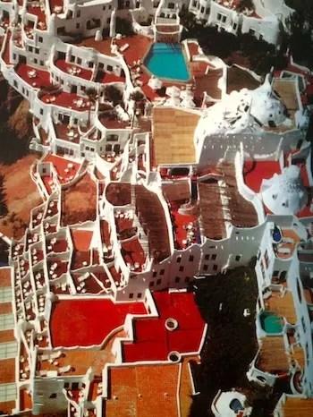 Casapueblo vista e cima, foto do livro lindo à venda na loja do museu