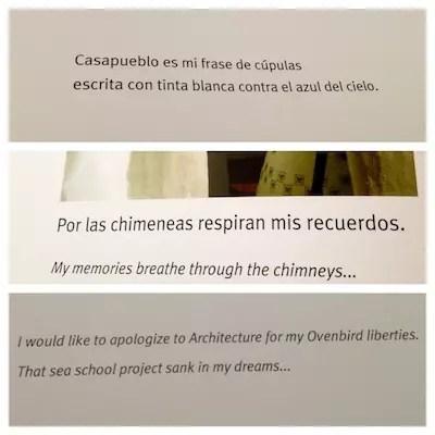 trechos do livro sobre a Casapueblo