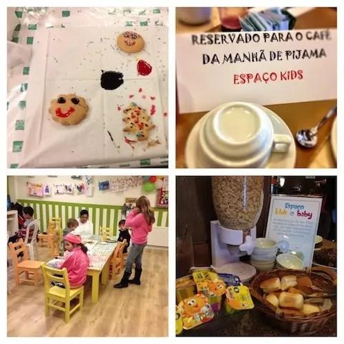 decoração de bolachas no lanche, café da manhã de pijama e cantinho kids no Café da manhã
