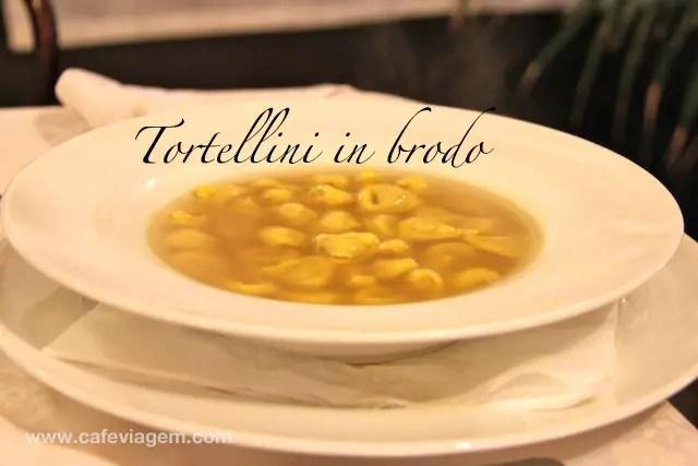 Idêntico a sopa de capelletti no Brasil