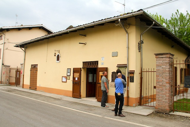 fachada da Osteria e da Acetaia Pedroni