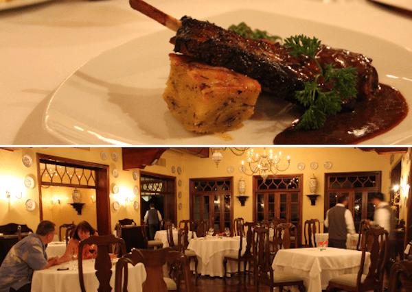 ambiente interno do restaurante Itaipu