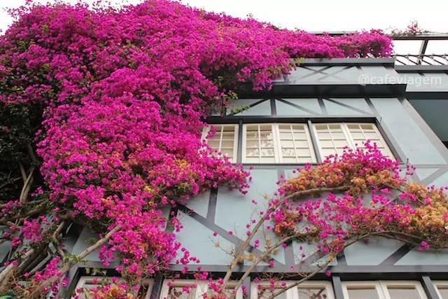 Lombar Street e suas casas com lindos jardins