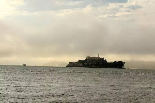 A famosa Alcatraz! Do Pier é possivel ver a ilha