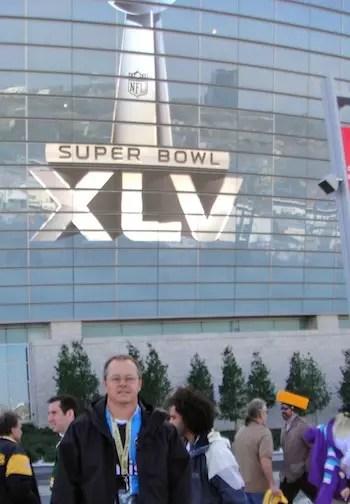 Luciano, no Super Bowl de 2013 em Dallas