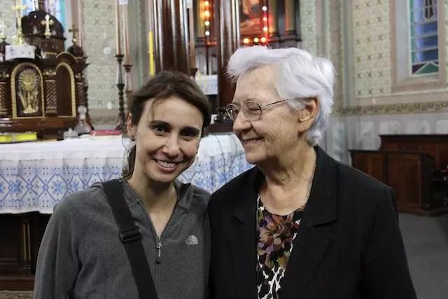 Eu e a querida irmã Meroslava Krevei