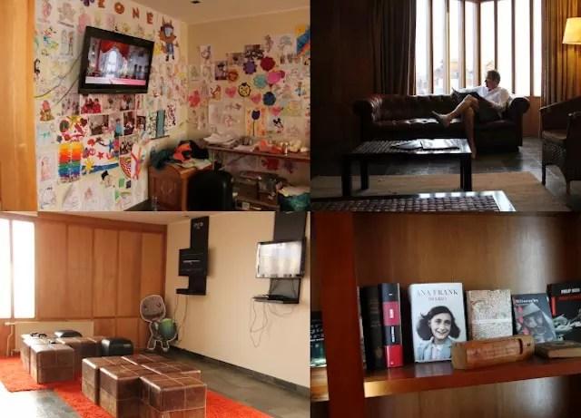 a recreação e a sala de leitura!