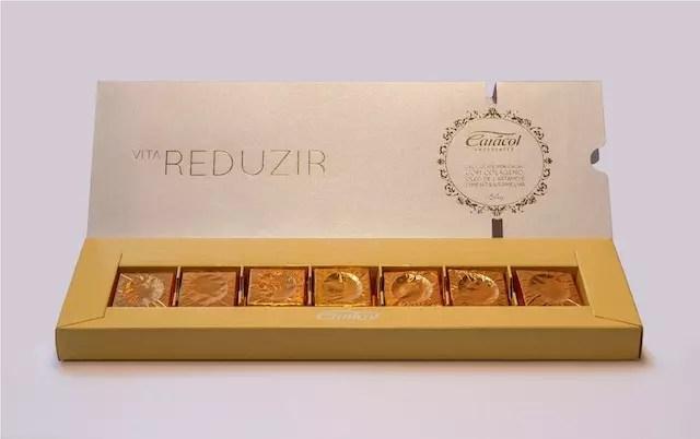 humm… tem caixa da linha bem-estar da Caracol Chocolates. Foto divulgação.