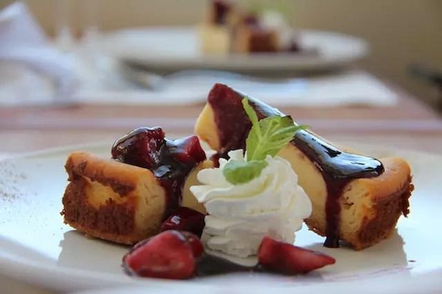 sobremesa linda no Zaffarano : cheesecake
