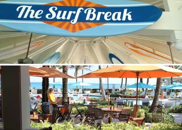 O quiosque do The Surf Break e o restaurante Ocean Grill