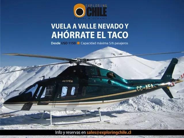 valle-nevado helicoptero