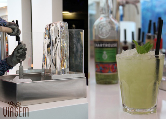 o drinque da casa: Green NvY - delicioso!
