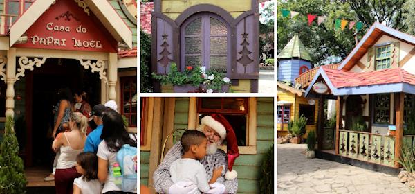 A simpática Vila dos Sonhos na praça central