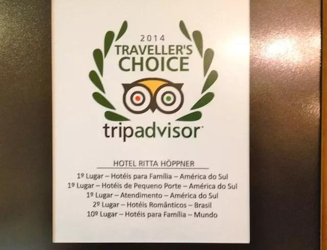 as impressionantes avaliações do hotel no site TripAdvisor