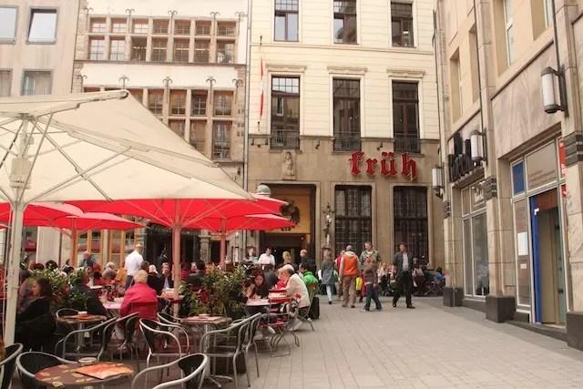 A fachada do restaurante e cevejaria