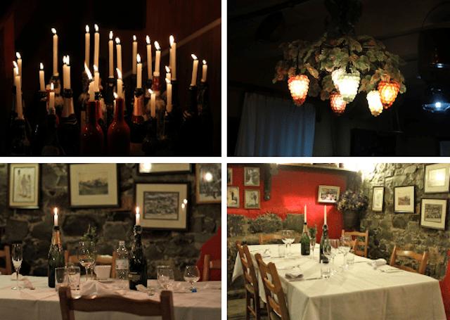 O clima romântico no jantar harmonizado da vinícola