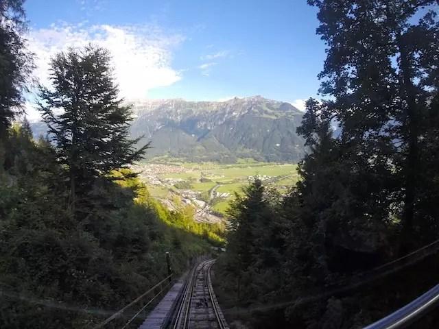 Subindo pelo funicular