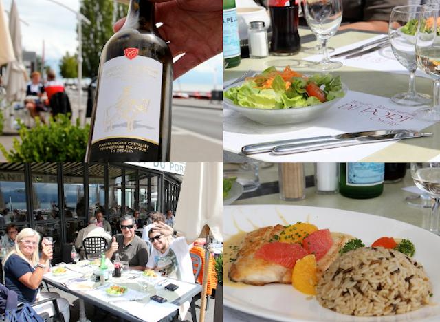 Almoço com o grupo do Swiss Experience brindando o dia lindo!