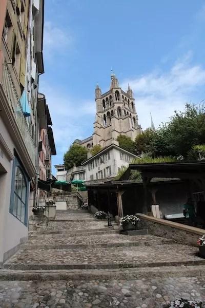 as escadarias famosas de Lausanne