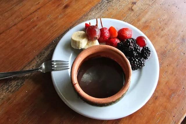 fondue de chocolate … all you can eat!