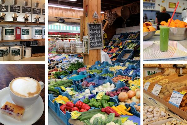 A feirinha de Carlsplatz tem vários segredinhos gourmets, bom café, excelentes sucos e würsts