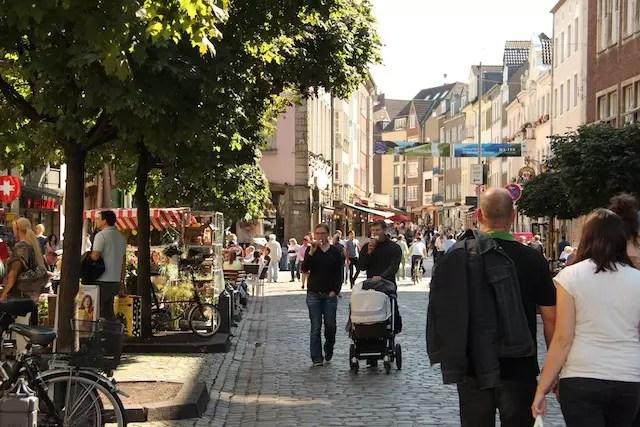 A charmosa rua de Marktstraße (Marktstrasse) merece um passeio