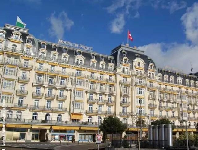 O charme do hotel de frente para calçadão do Lago de Genebra. Foto: Montreux Tourism - Divulgação
