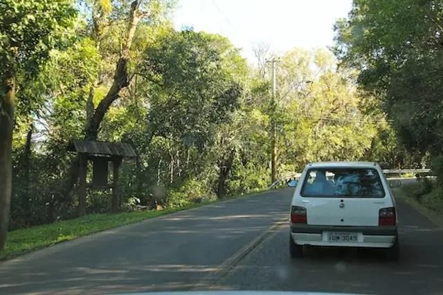 A estrada do morro
