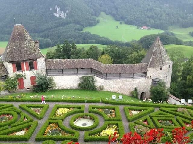 Linda vista do castelo