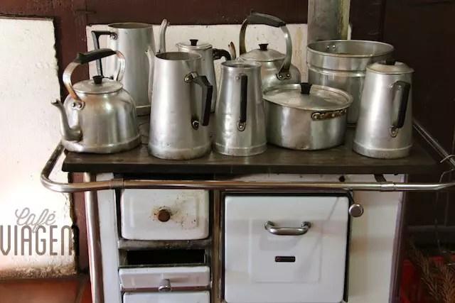 A cozinha da lancheria no Parque da Aldeia do Imigrante