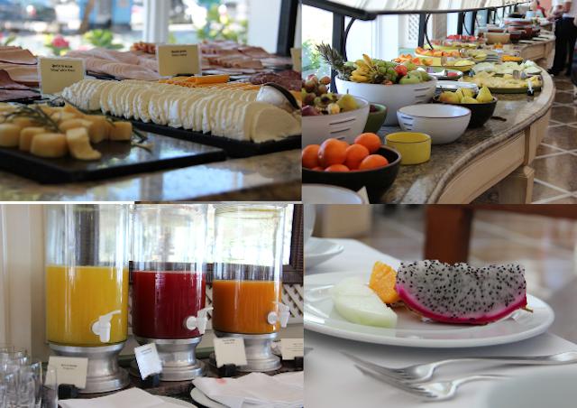 O banquete começa no café da manhã, amei!