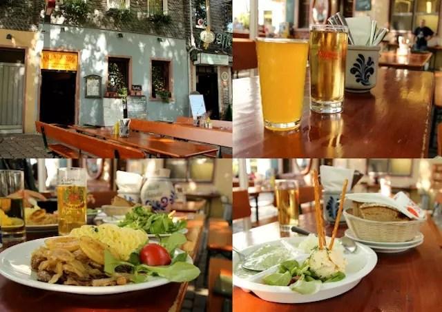 molho verde e comidinhas do ótimo restaurante Daus