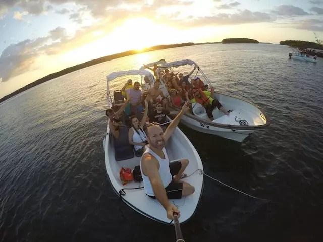 No tour de barco pelo Delta com a galera do grupo. Foto Maurício Oliveira