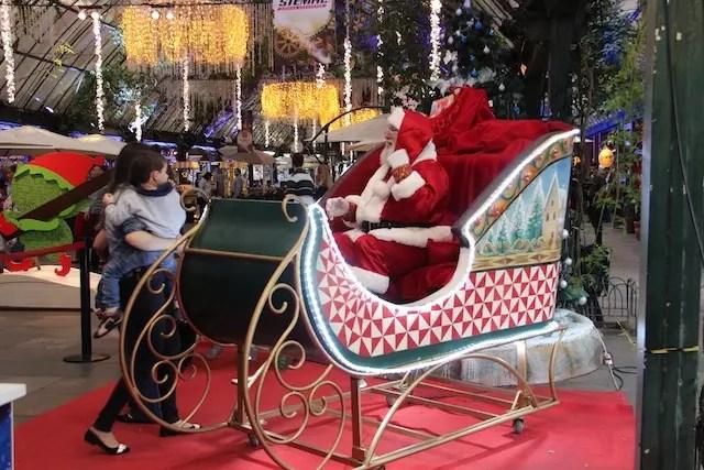 Também tem Papai Noel na Rua Coberta