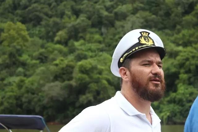 O capitão e proprietário do Capitano Brutus