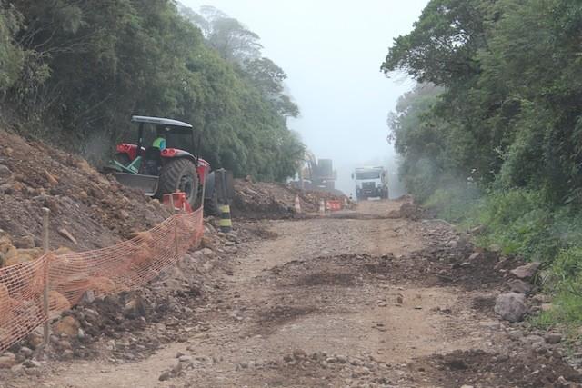 o trecho complicado da estrada de Praia Grande à Cambará