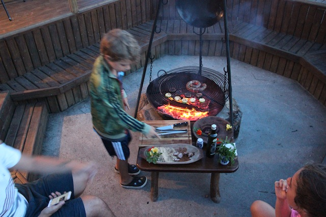 Teve hóspede que não saiu de perto do fogo!