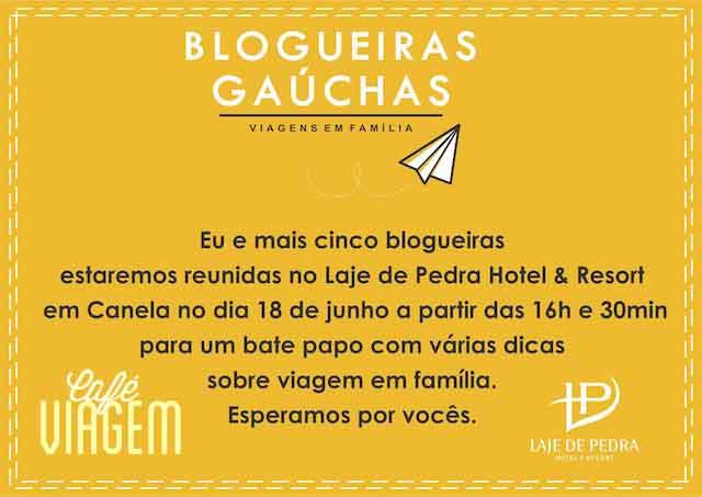 Convite Encontro Blogueiras Canela