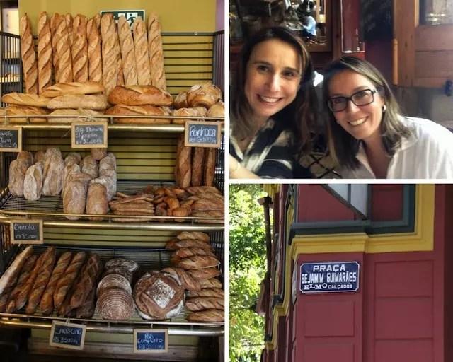 Os pães, eu, a minha amiga mineira e a felicidade !