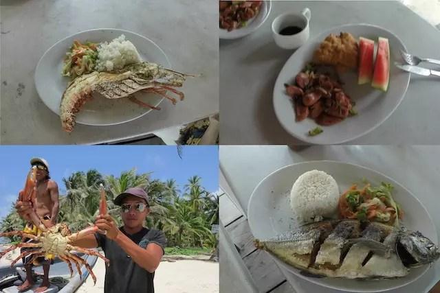 café da manha + almoço+ janta + carangueijo gigante