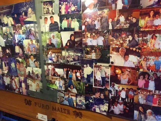 o painel dos clientes e famosos no Xapuri