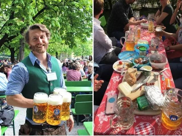 melhores biergarten de Munique