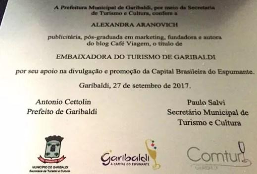 Embaixadora de Turismo de Garibaldi-w
