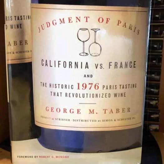 livro sobre o Julgamento de Paris vendido na Stag's Leap
