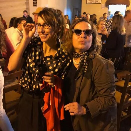 Eu e Criz Azevedo, que escreveu este post, curtindo o Garibaldi Vintage