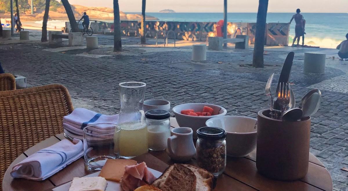 café da manhã em Ipanema Rio