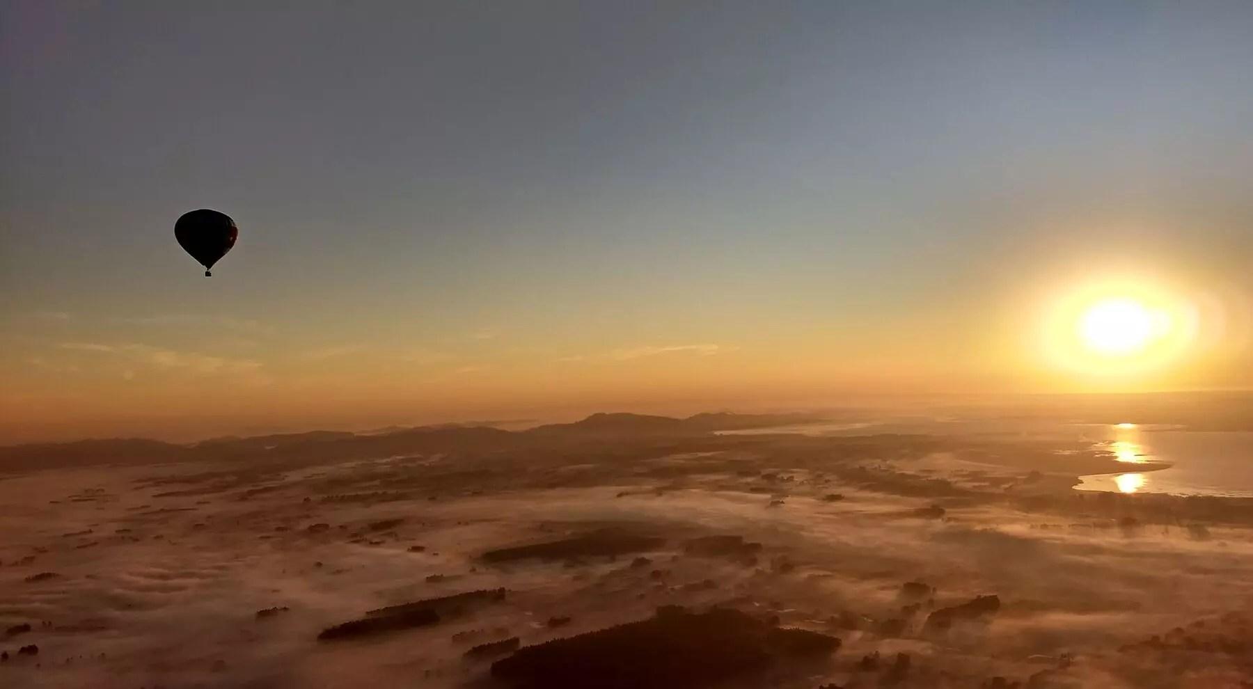 voar de balão em Torres