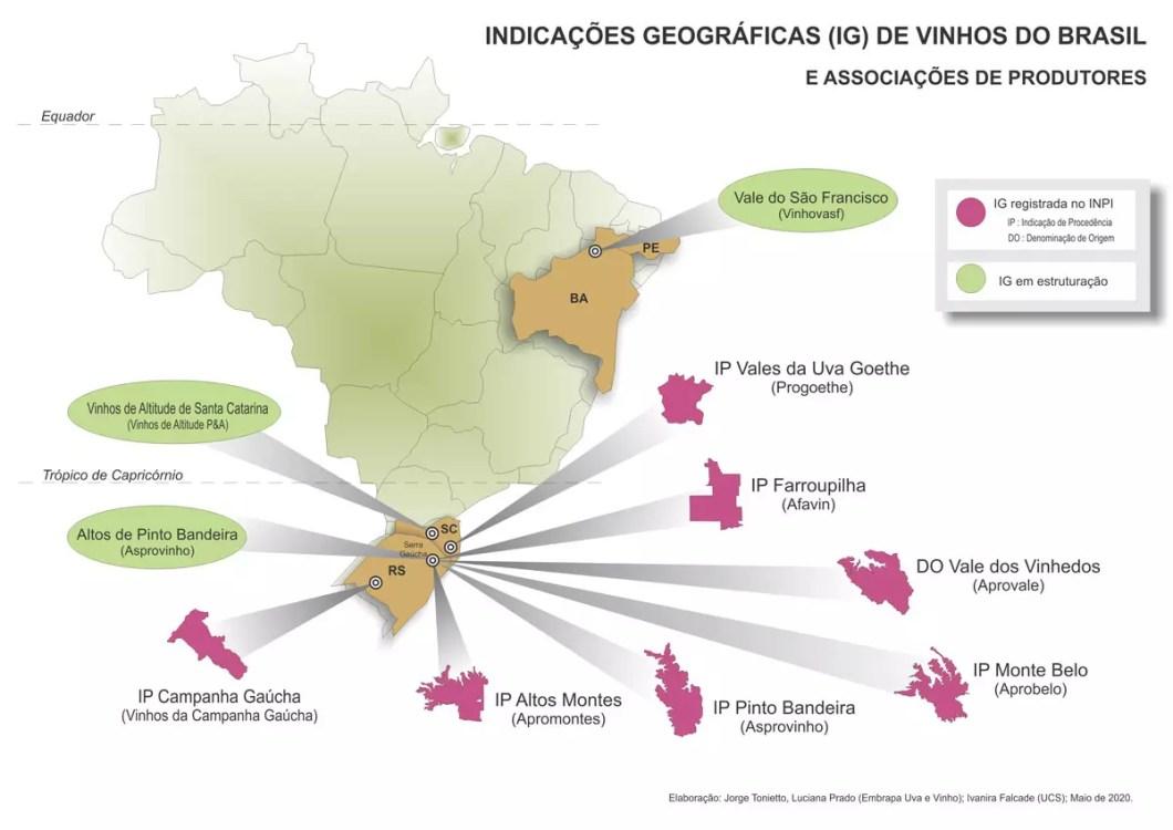 Indicações Geográficas Vinho Brasil
